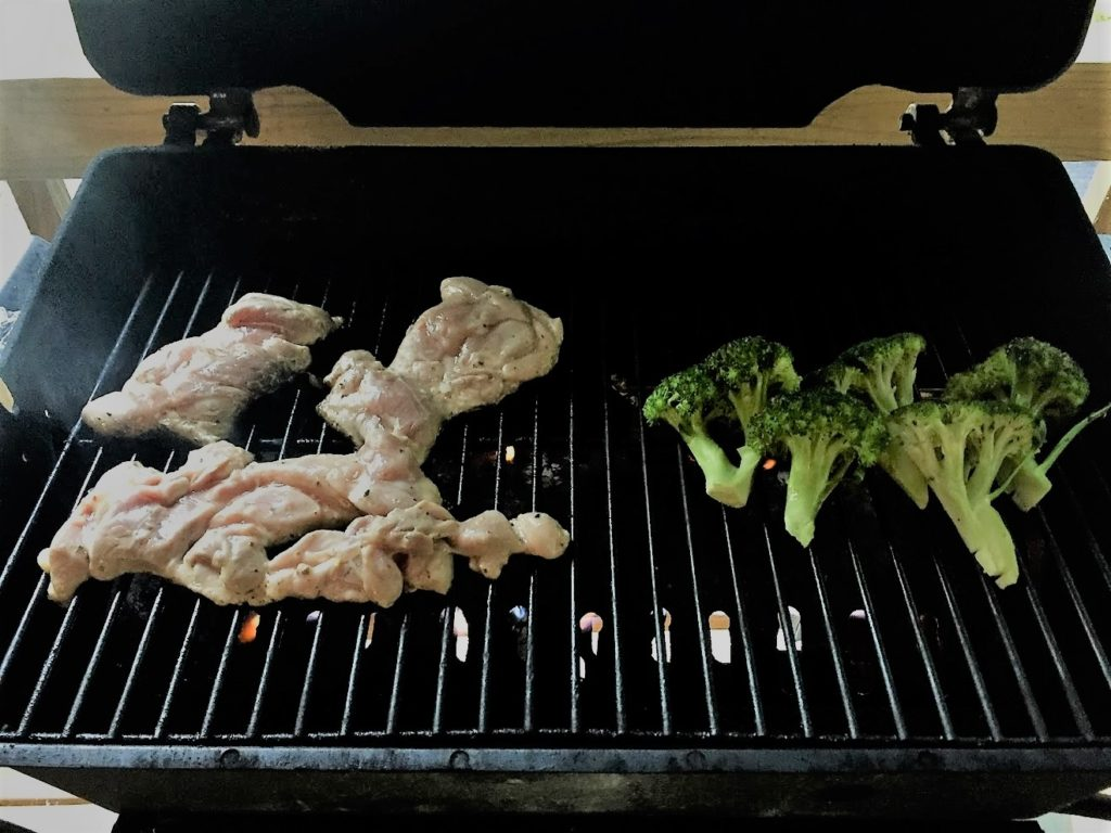How to Grill Chicken And Broccolii