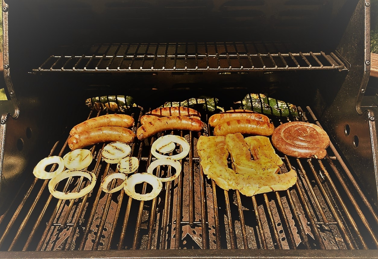 How to Grill Sausage and Onions