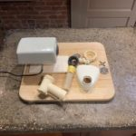 vintage Moulinex French electric meat grinder